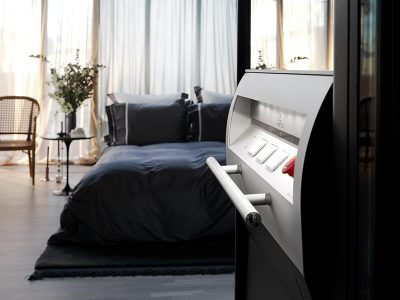 Modern bedroom with lift