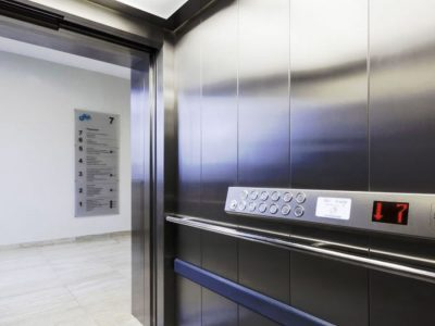 Commercial lift interior and controls