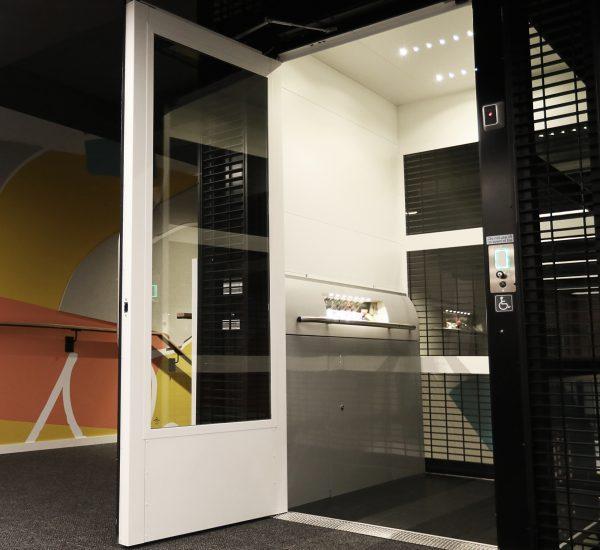 Wellington City Library Lift entry